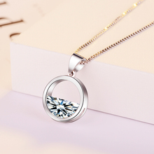 custom crystal water fashion Sterling silver pendant jewelry necklace chain stainless steel jewelry sets women necklace mother