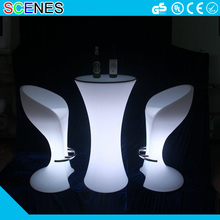 plastic beach stool illuminated furniture led bar chair