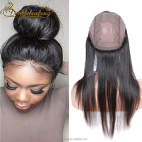 Cheap Wholesale India Virgin Hair Body Wave Human Hair All Around 360 Lace Frontal With Stretch Wig Cap