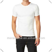 supreme soft blank plain design Men's triblend White Cotton T-shirts with Your Design Logo printed OEM