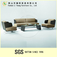 Stylish European Style Simple And Elegant Outdoor Rattan Furniture Comfortable And three seaster sofa poly rattan furniture