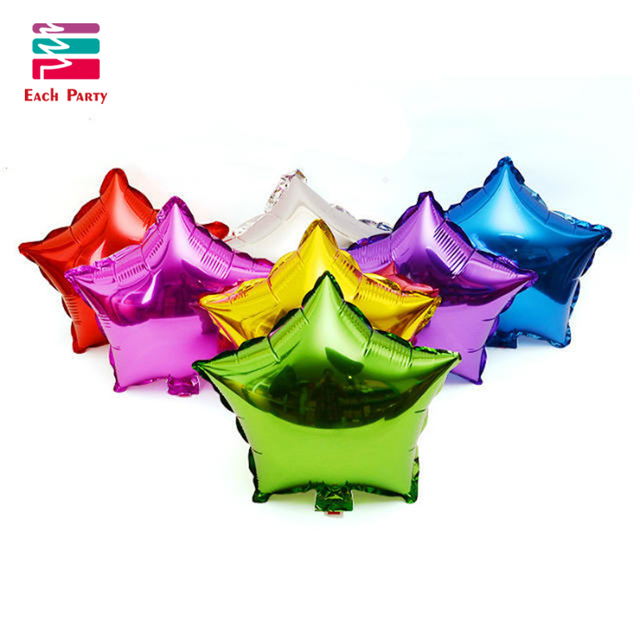18 inches Romantic Wedding Decor Star Foil Helium Balloons Birthday baloon Wedding Ballons Anniversary Decoration Party Supplies