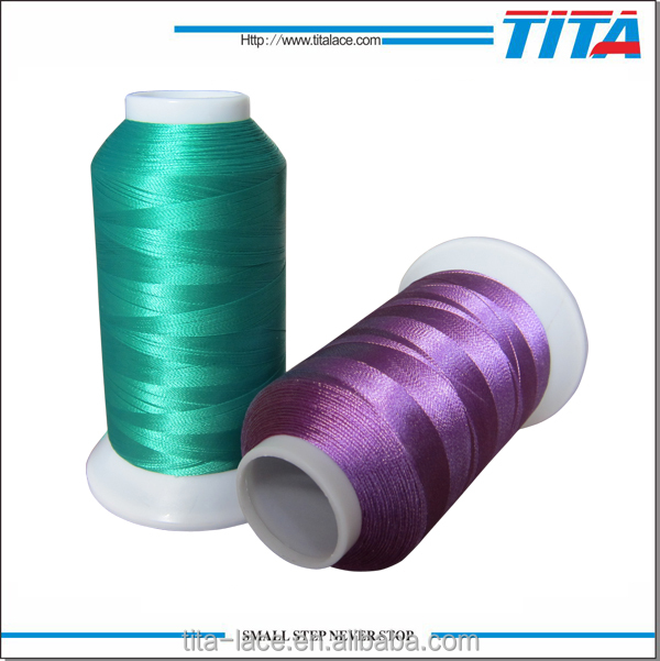 Polyester embroidery thread shiny color for gift wrap