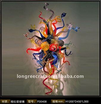 Modern Murano Glass Wall Art Colorful