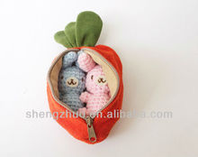 Carrot Purse Zipper Pouch Gift Set Stuffed Toys