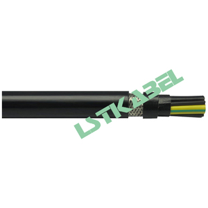 Double Sheath Electric Power Control Wire Variable Frequency VFD Cable for Mobile Data Control