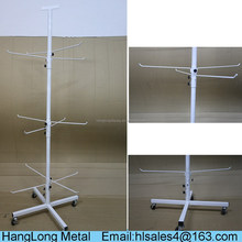 customized adjustable durable hanging bag display stand with household use