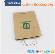High Quality Disposable Shopping Paper Bags For Packaging With Ribbon Handle