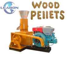 Diesel Engine Driven Mobile Working Site Wood Pellet Mill Machine For Organic Herbal