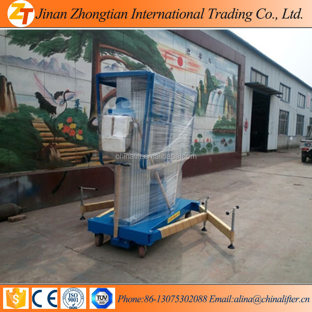 OEM acceptable double masts telescopic single man lift with competitive price, lifting equipment