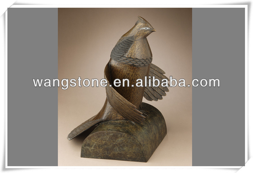 Casting eagle bronze sculpture for home decor