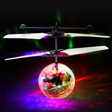 Hot selling new arrival kids Flying toy Led colorful helicopter magic Flying ball with remote control