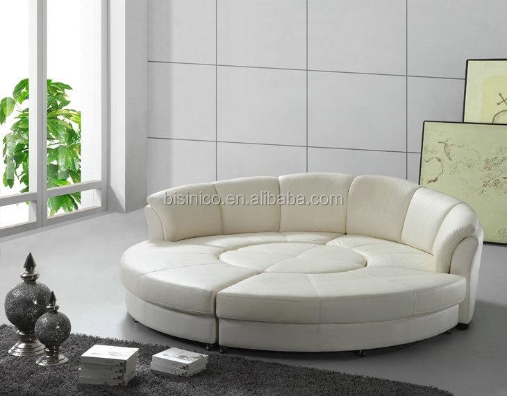 Modern Genuine Leather Round Bed,Genuine Leather Round Sofa Bed - Buy  Leather Round Bed,Round Sofa Bed,Modern Round Sofa Bed Product on  Alibaba.com
