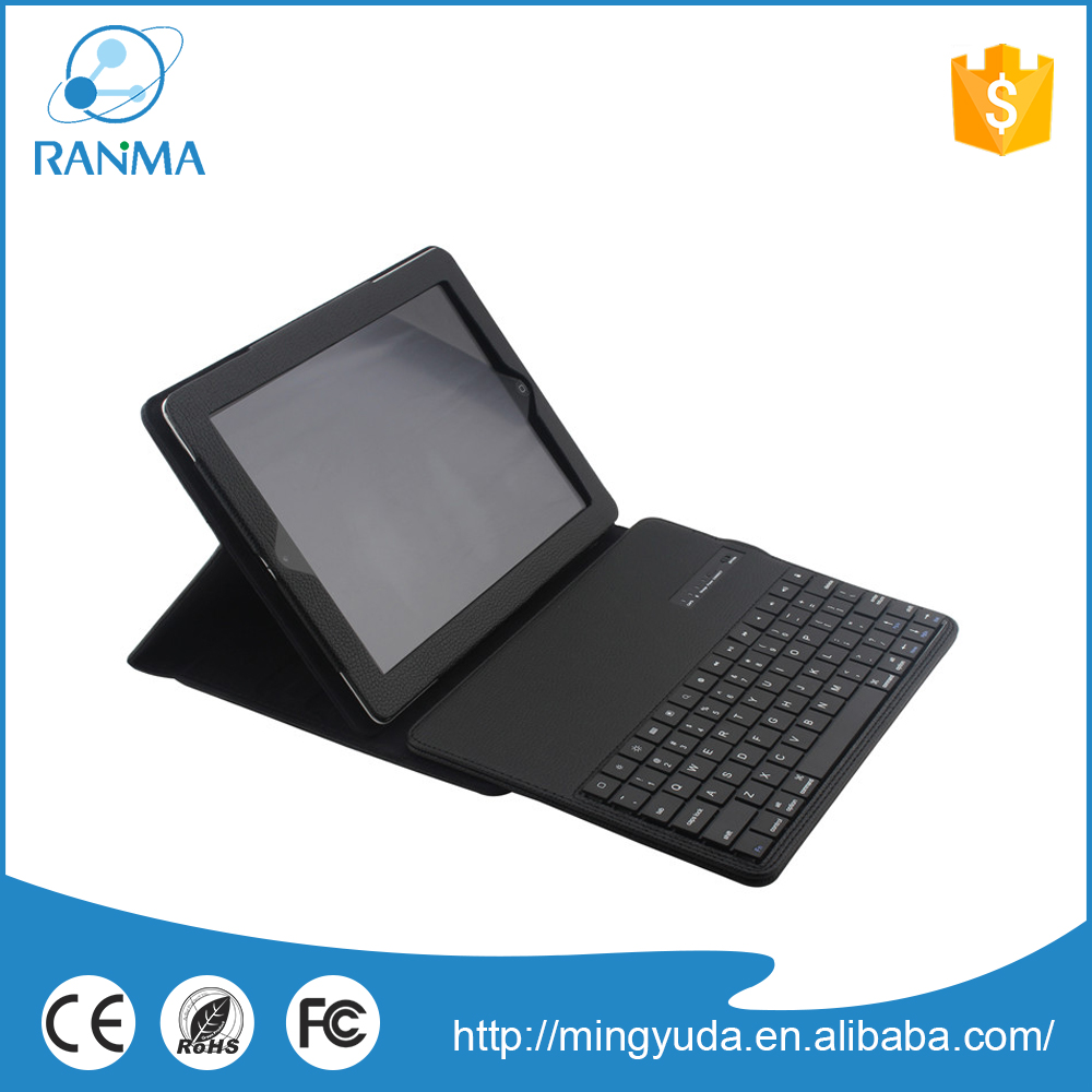 Best Selling 9.7 inch leather smart custom keyboard cases for ipad 4