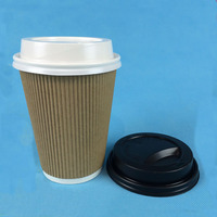 Disposable 12oz Insulated Ripple Wrap Hot Cup