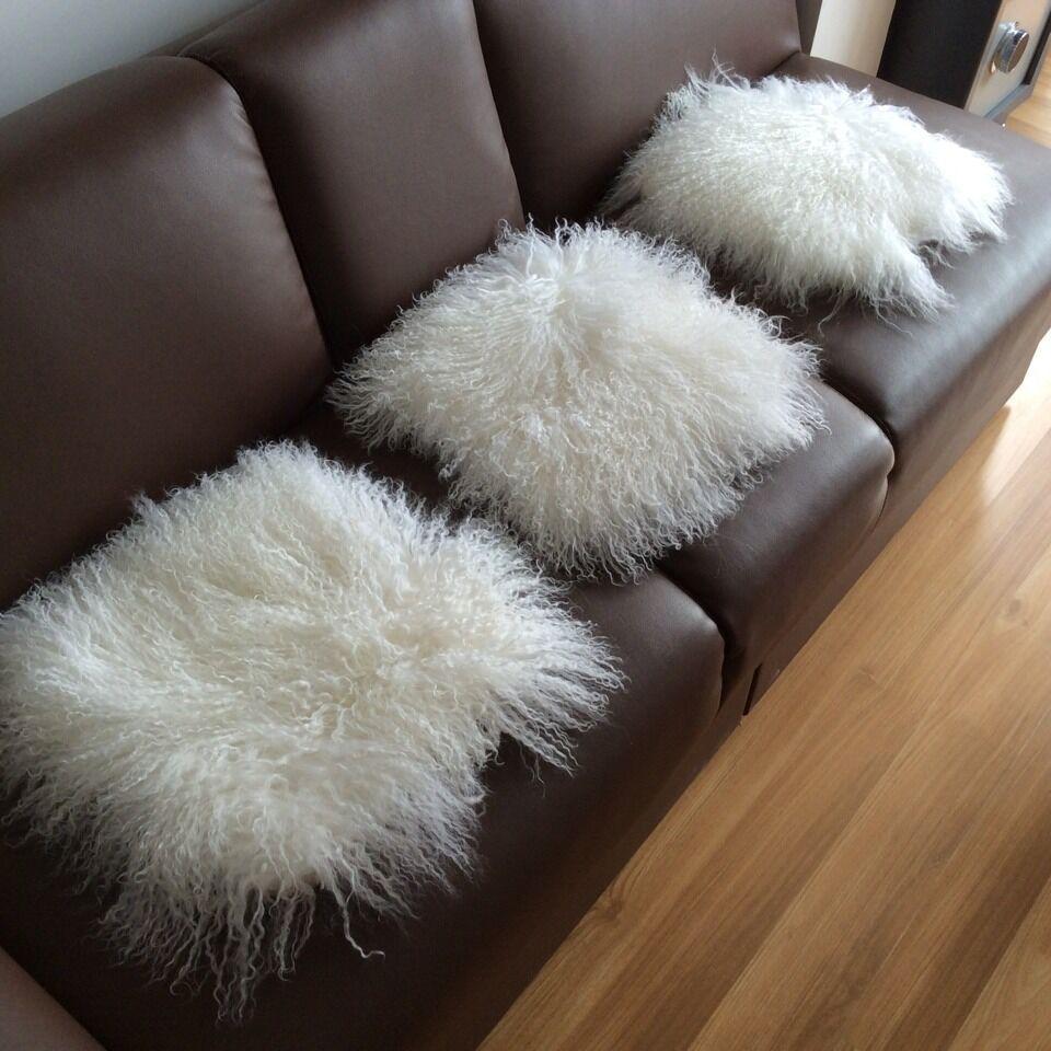 Wholesale Tibetan Mongolian Lamb Fur Chair Cushion For