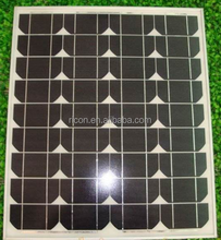 flat roof solar panels mount amorphous silicon solar pv module 24v