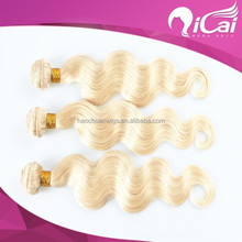 Grade 7a 613 color blonde color human hair weaving/weave
