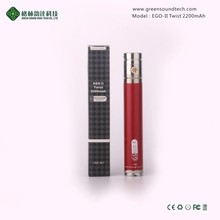 wholesale e cig variable voltage ego twist battery ego-t 2200mah battery