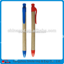 Recycled paper touch cheap promotional ballpoint pen & advertising pen