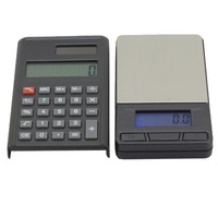 2 in 1 Electronic Pocket 1000g x 0.1g Jewelry Digital Scale Balance + Calculator with Digits LCD Display
