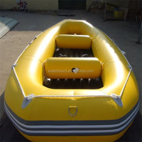 PVC inflatble raft fishing boat/fishing boat for sale/ inflatable floor self-drain