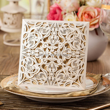wholesale laser cut wedding invitation card greeting card printing