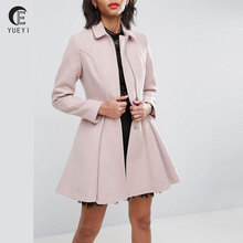 Swing woolen jacket coat with Full skirt for woman winter