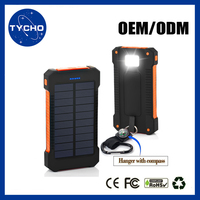 Japan Battery Cells Universal Portable Charger 8000mAh Solar Power Bank Flashlight LED Portable Ultrathin Solar Power Bank