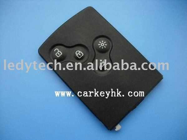Good quality Renault remote key 4 buttons smart card with 46 chip 433MHZ