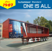 China manufacture curtain side trailer curtain side van semi truck trailer