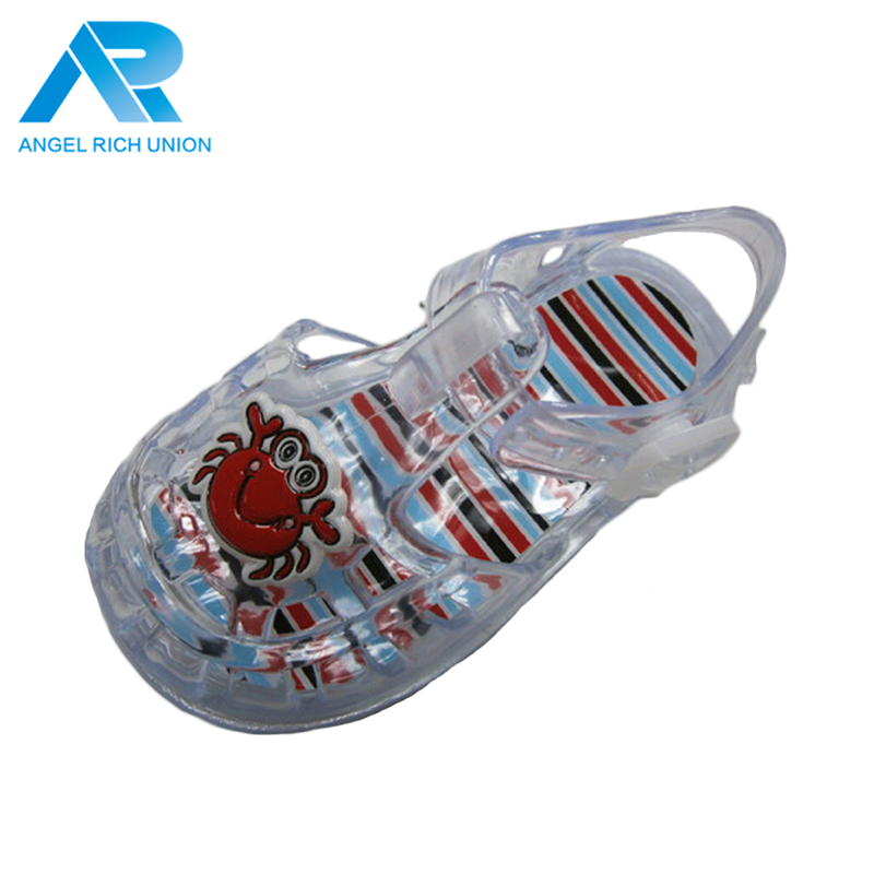 Trend 2018 custom logo slide jelly shoes pvc child sandal melissa sandals