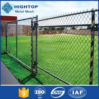 Popular Galvanized Metal Used Chain Link Fence Gates Design For Yard