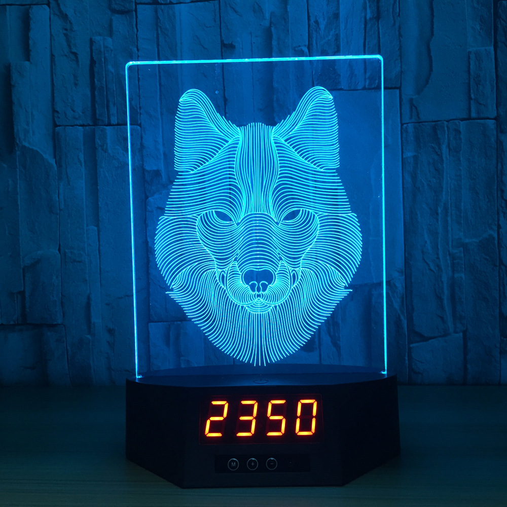 Zogift Animals Wolf 3D Night Light Touch Table Desk <strong>Lamps</strong>, 7 Color Changing Lights