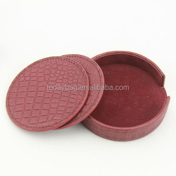 OEM factory China supply Promotional leather Coaster /beer coaster for Hotel