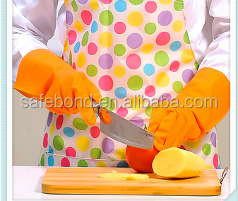 High quality yellow latex long cuff household working rubber gloves/Waterstop Dishwashing Gloves