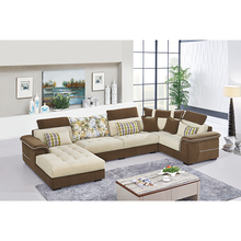 2016 Simple Fancy Mordern Design Royal Sofa Set U Shape 4 Seat Recliner Chaise Lounge Fabric Corner Sofas Contemporary Furniture