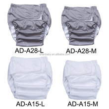 reusable adult cloth diaper economy waterproof solid color adult diaper