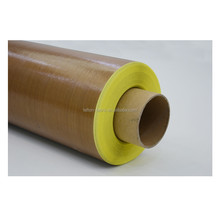 New !!! high strenth teflon fireproofing fiberglass fabric rolling tape with adhesive