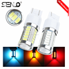 High quality red amber car auto 7440 t20 t25 led brake light bulbs 33pcs 5630 smd white 6000K
