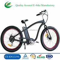 26 inch Fat Tires electric snow bike electric mountain bike electric bike battery (TDE12Z)