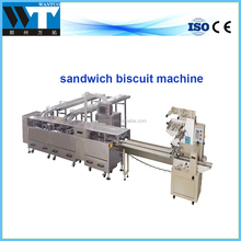 Cheap price sandwich biscuit making machine with Cream bucket and biscuit packing machine