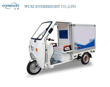 fresh food storage small electric cargo/delivery tricycle vehicle with enclosed cabin box