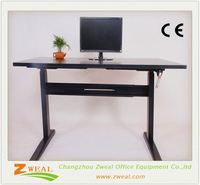 china morden adjustable height office desk wooden furniture frames