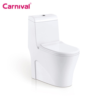 New design bathroom ceramic siphonic one piece wc toilet set with square bowl L151