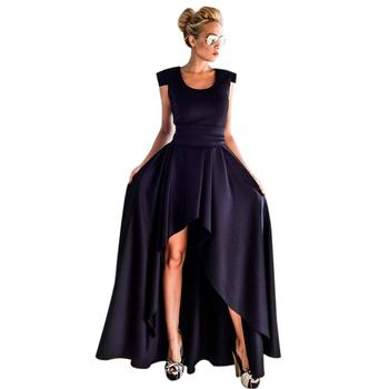 Elegant asymmetric high waist women evening dresses, european design party dress of Guangzhou