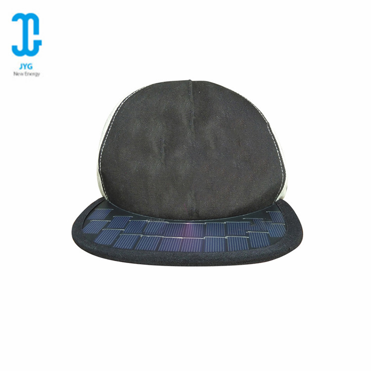 Cheap price promotional summer custom solar charger <strong>cap</strong> and hat