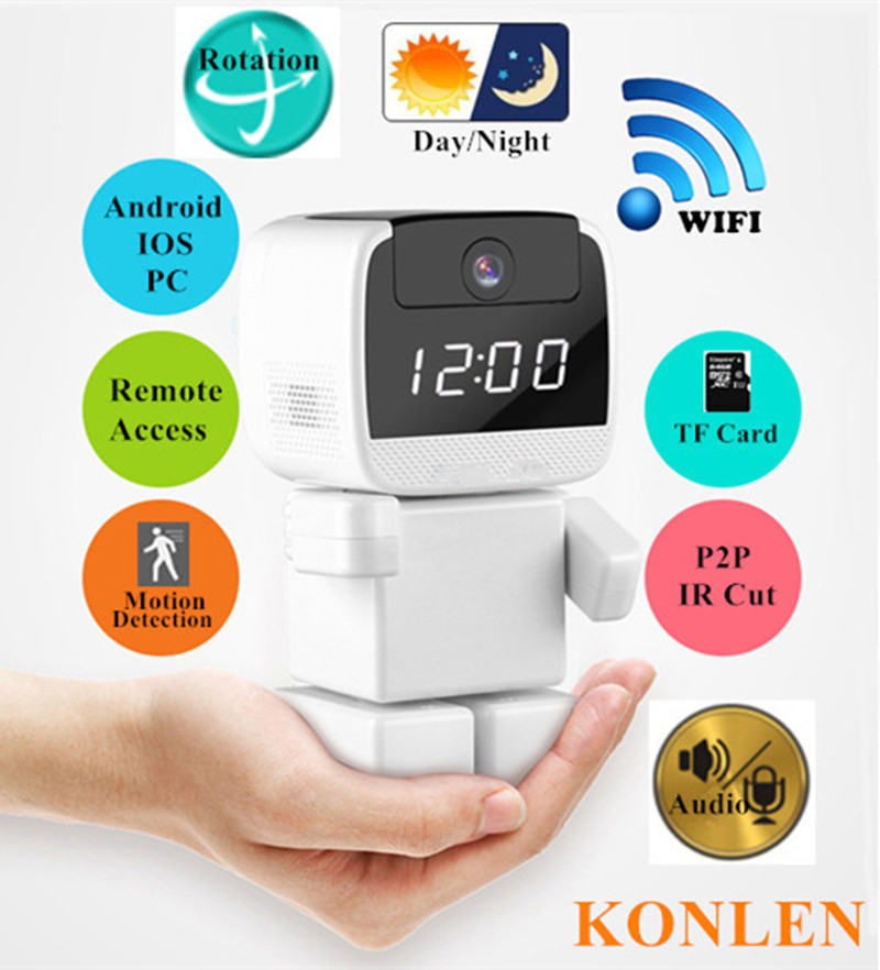 Hot Selling 720p IR Robot CCTV Wireless WIFI IP Camera , House Security CCTV Camera