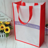 All color promational non-woven bag with zipper guangzhou cutting and sewing machine