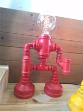 6.25-10 Pipe lamp light retro bar creative children's room decorative lamp table lamp robot